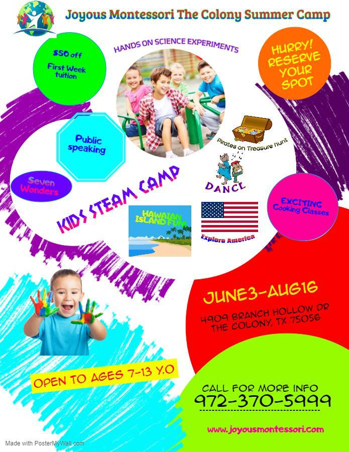 Now Enrolling for Summer camp 2019 the colony tx